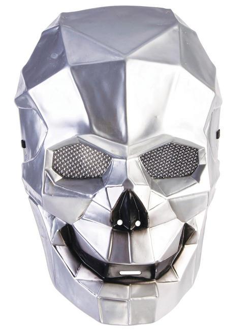 Men's Silver Cyborg Mask