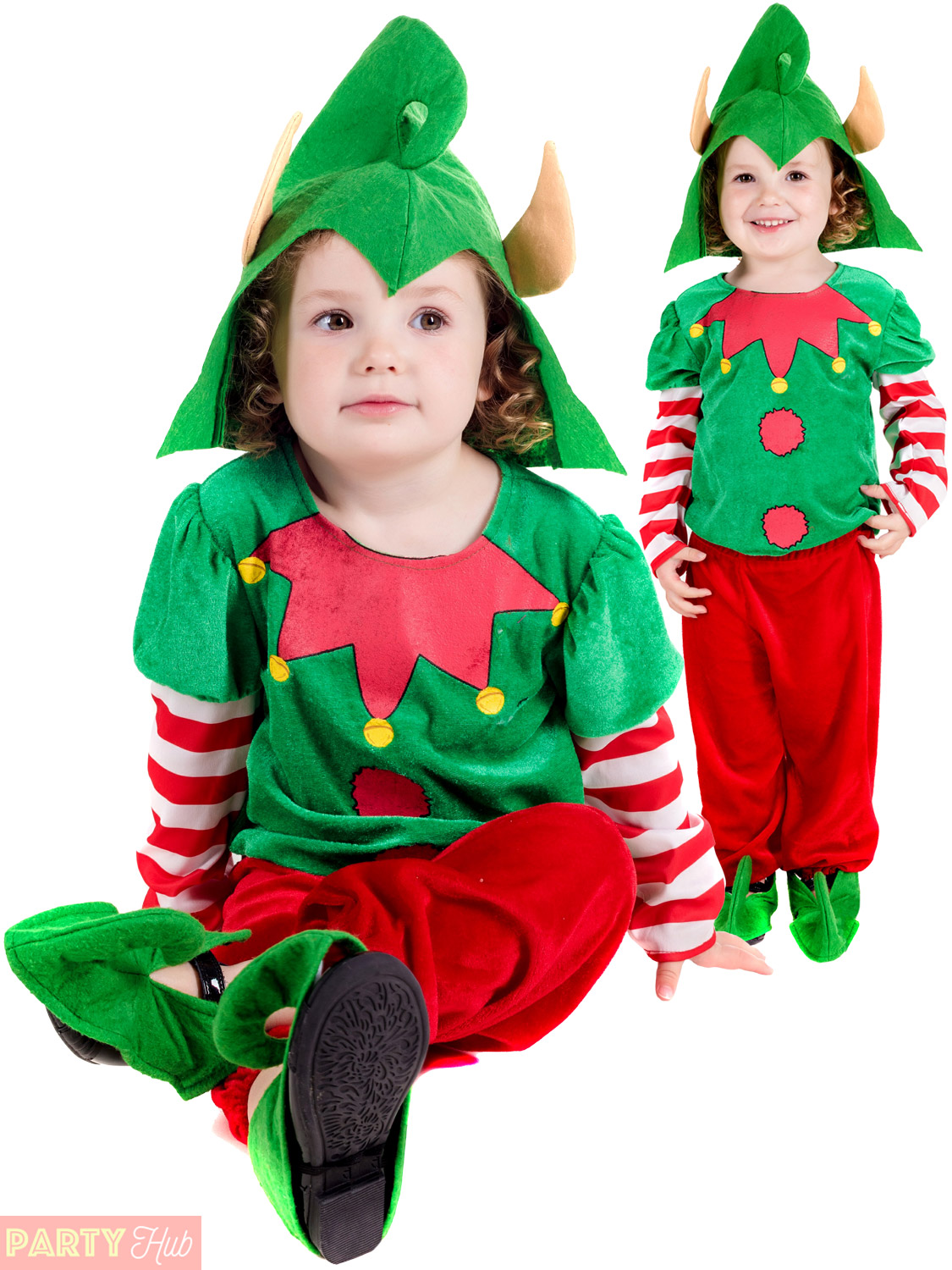 Childs-Toddler-Elf-Costume-Boys-Girls-Santas-Helper-  sc 1 st  eBay : elf costume toddler  - Germanpascual.Com