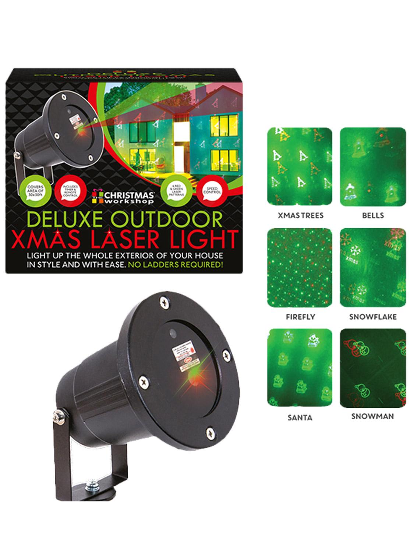 deluxe 40ft xmas outdoor laser light timer projector christmas decoration garden ebay. Black Bedroom Furniture Sets. Home Design Ideas