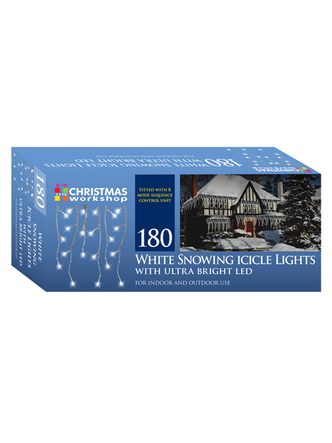 LED-Icicle-Snowing-Chaser-Lights-Outdoor-Bright-White-Blue-Christmas-Decoration miniatura 12