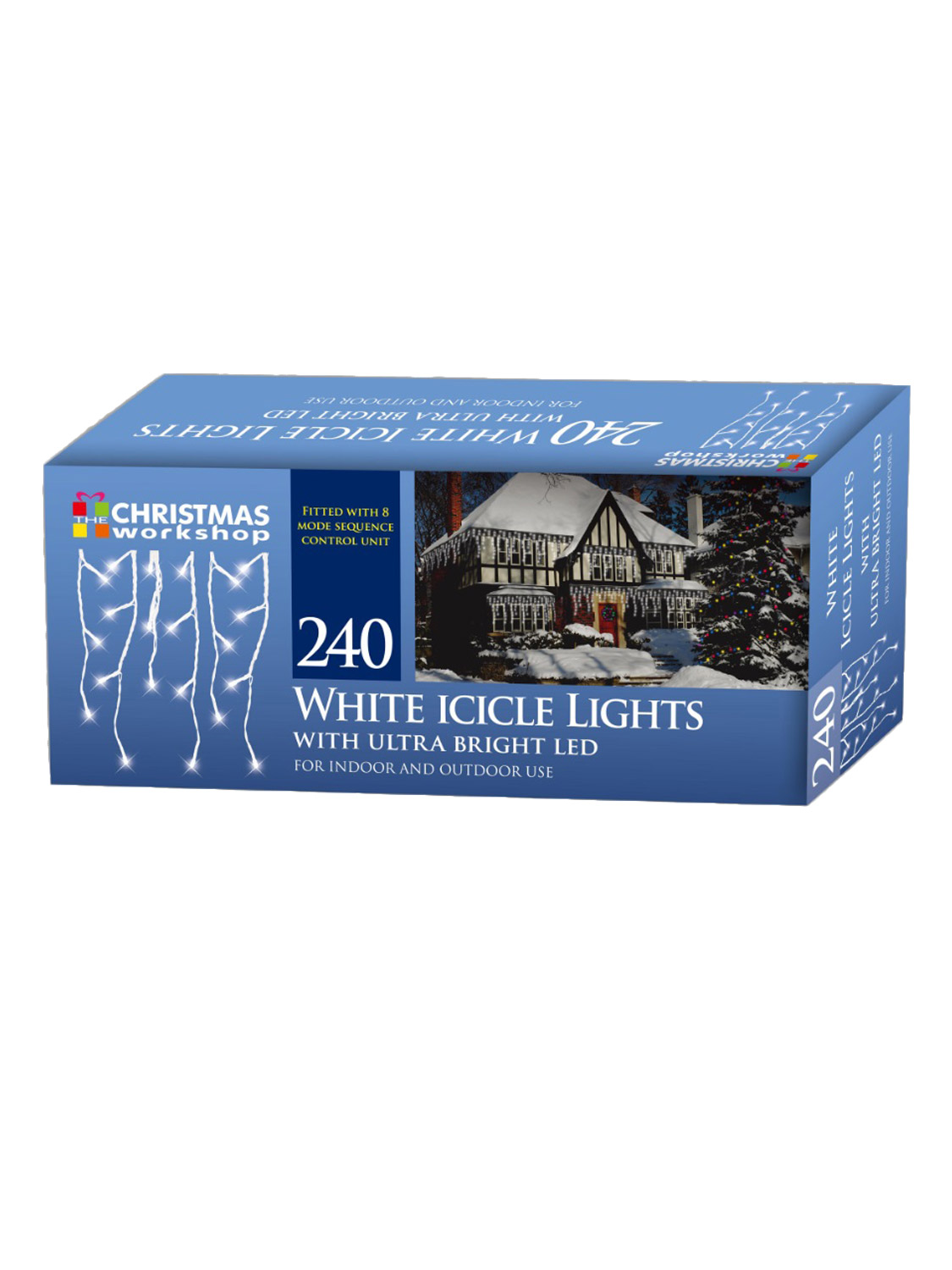 LED-Icicle-Snowing-Chaser-Lights-Outdoor-Bright-White-Blue-Christmas-Decoration miniatura 7