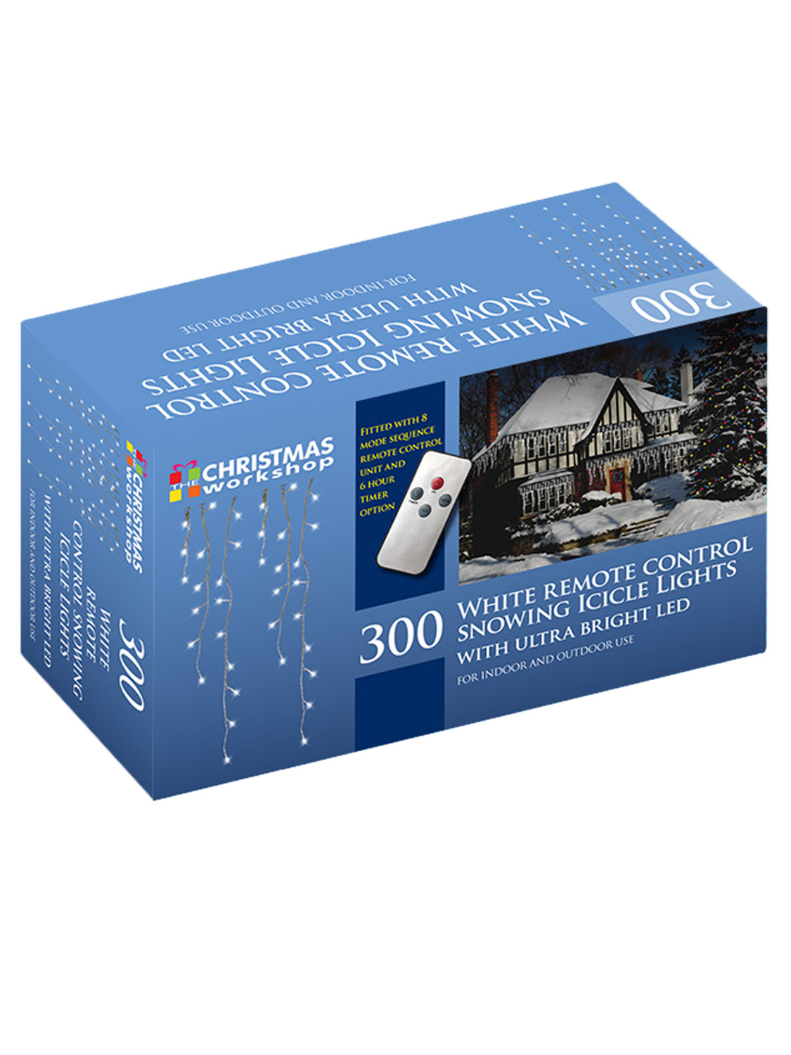 LED-Icicle-Snowing-Chaser-Lights-Outdoor-Bright-White-Blue-Christmas-Decoration miniatura 10