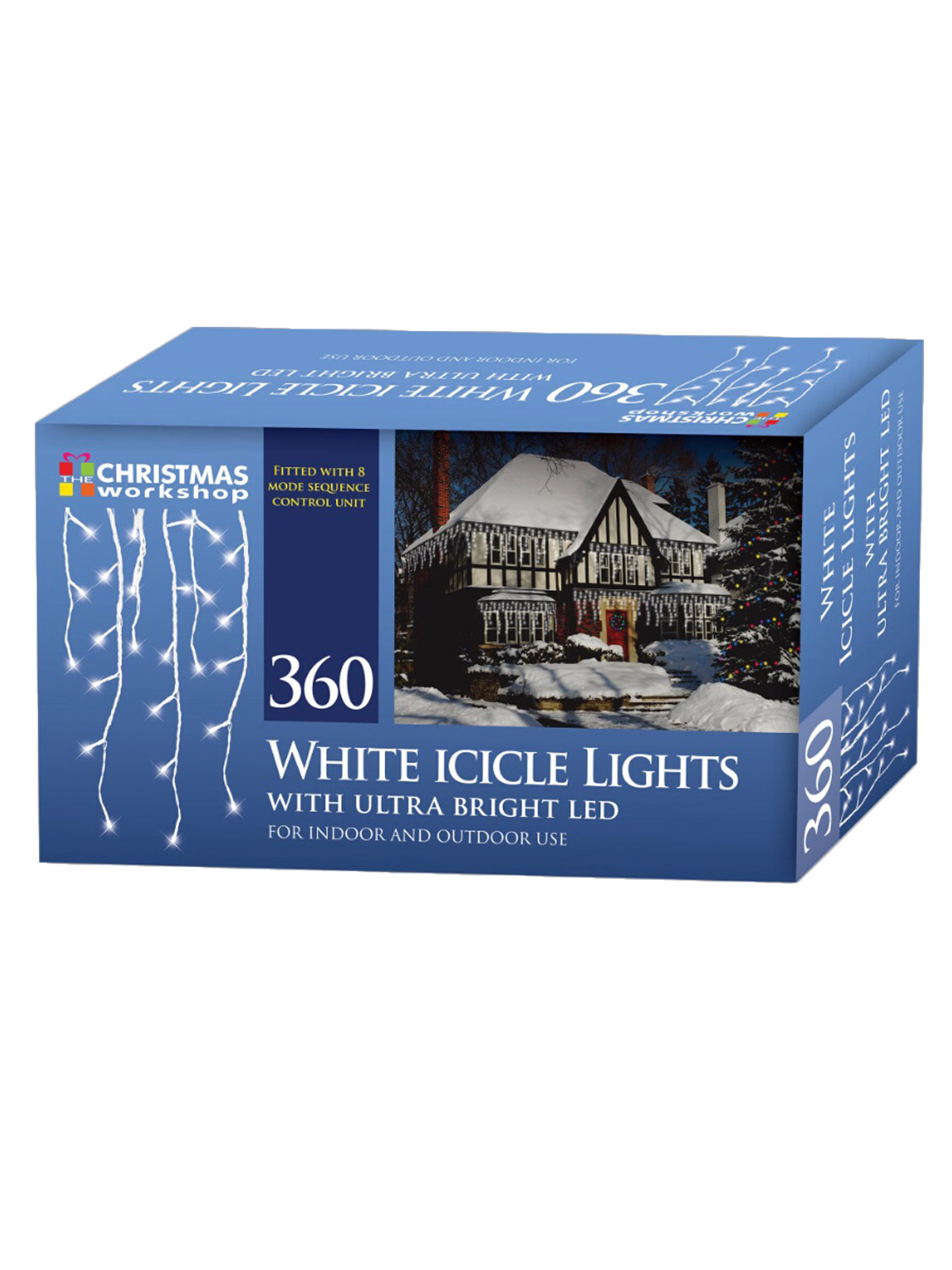 LED-Icicle-Snowing-Chaser-Lights-Outdoor-Bright-White-Blue-Christmas-Decoration miniatura 8