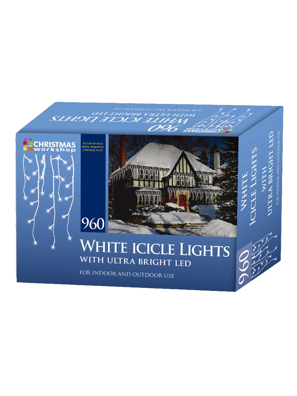 LED-Icicle-Snowing-Chaser-Lights-Outdoor-Bright-White-Blue-Christmas-Decoration miniatura 9