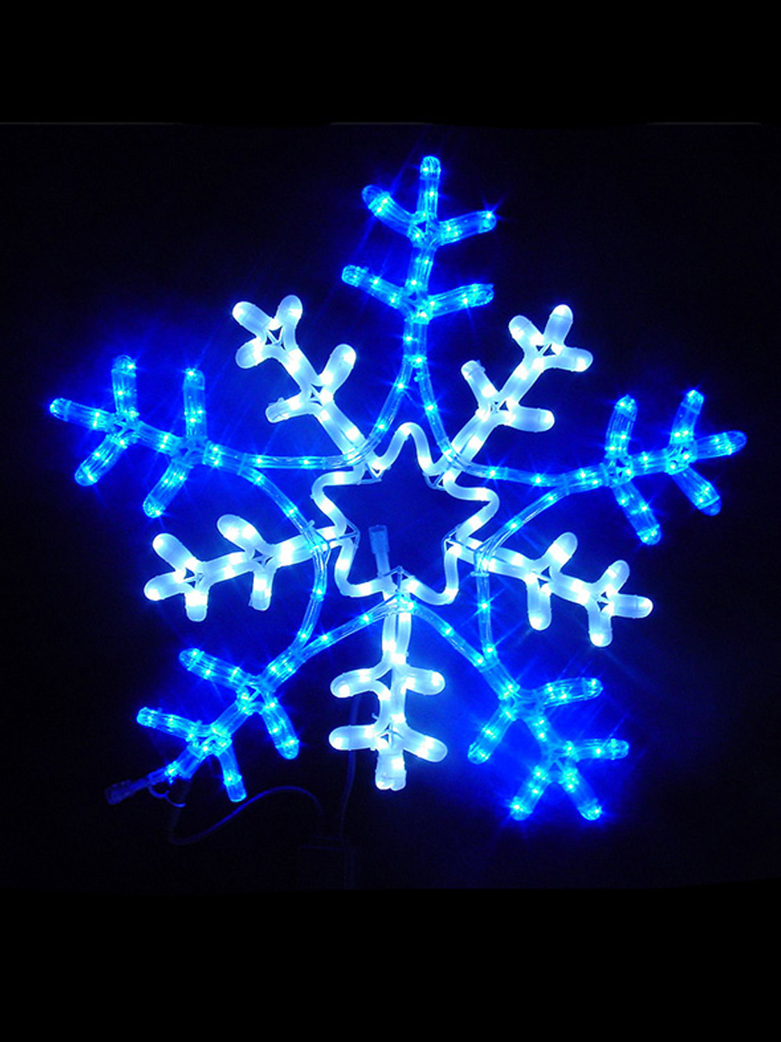 Christmas led outdoor rope light 65cm snowflake star - Snowflake exterior christmas lights ...