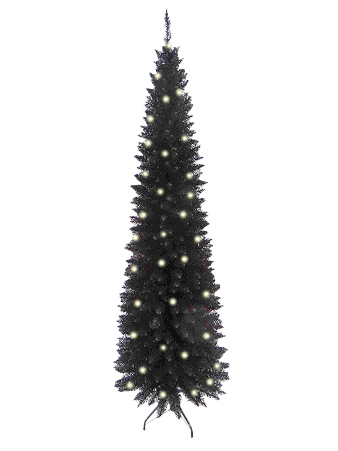 Pre Lit Slim Christmas Tree 6ft Leds Pop Up Decoration