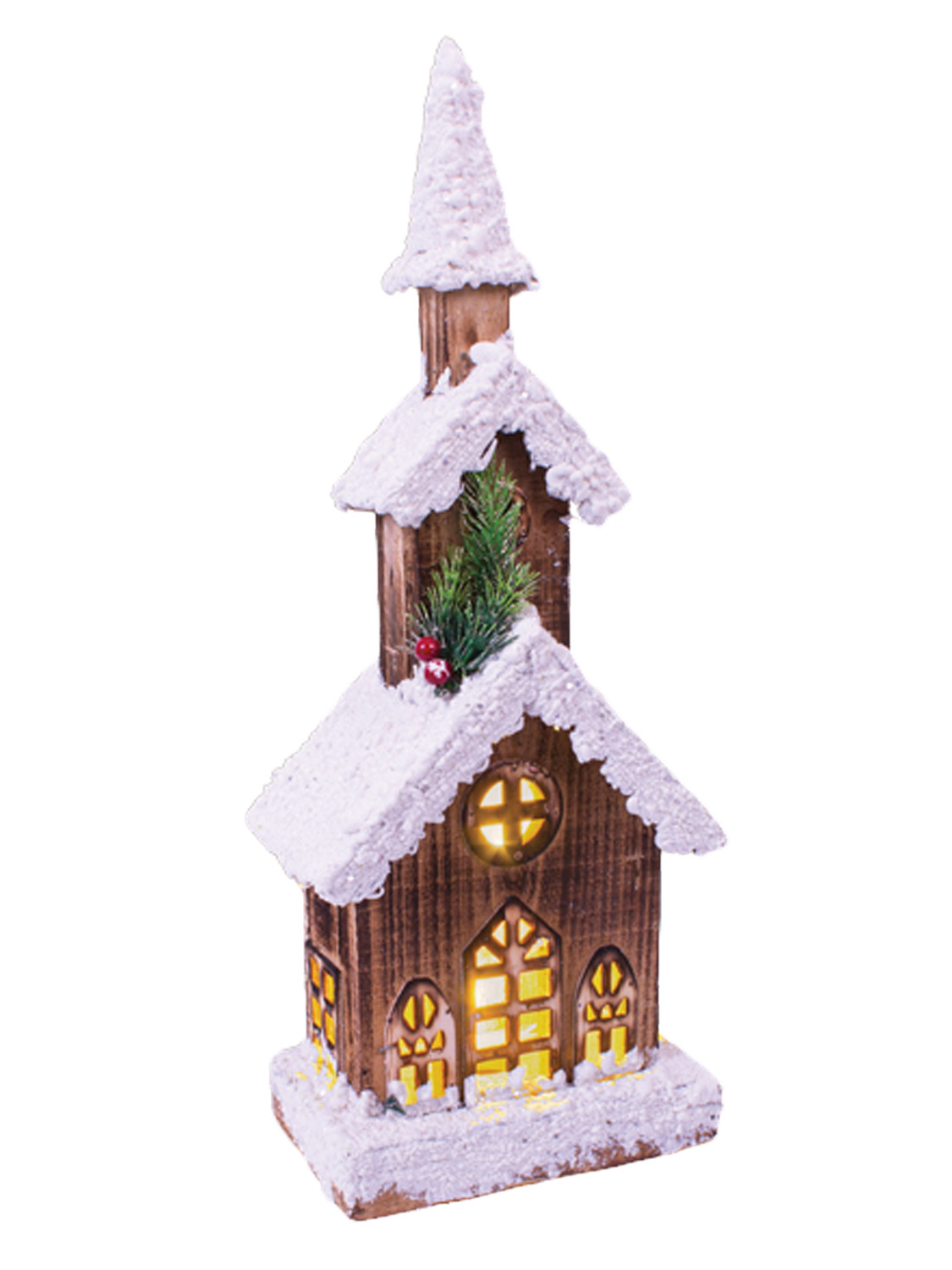 Light Up Wooden Snow House Lampost Snowy Christmas ...