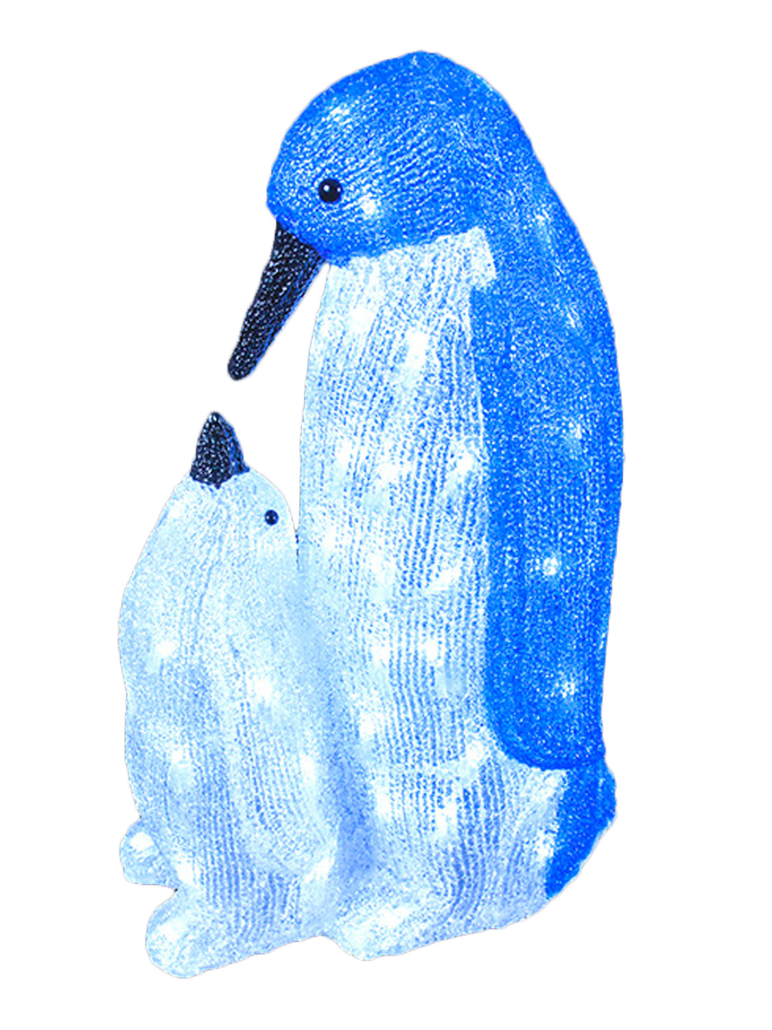Led Acrylic Baby Penguins Christmas Light Up Indoor