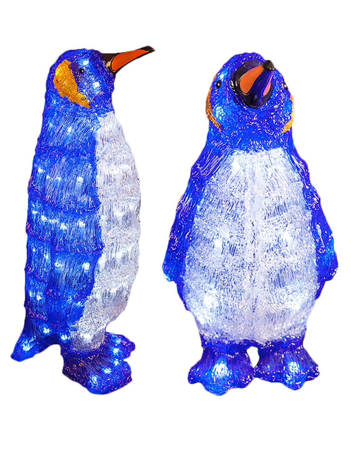 LED Acrylic Baby Penguins Christmas Light Up Indoor Xmas Decoration ...