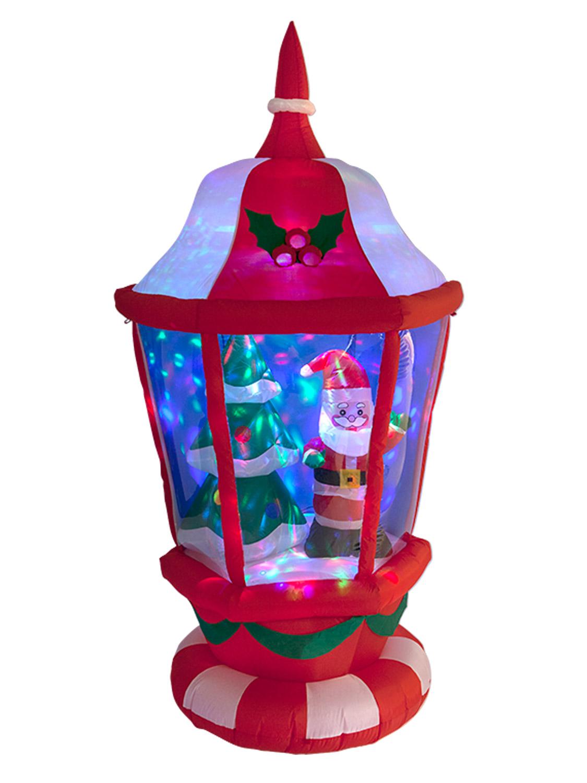 Inflatable LED Lantern Santa Christmas Tree Disco Ball ...