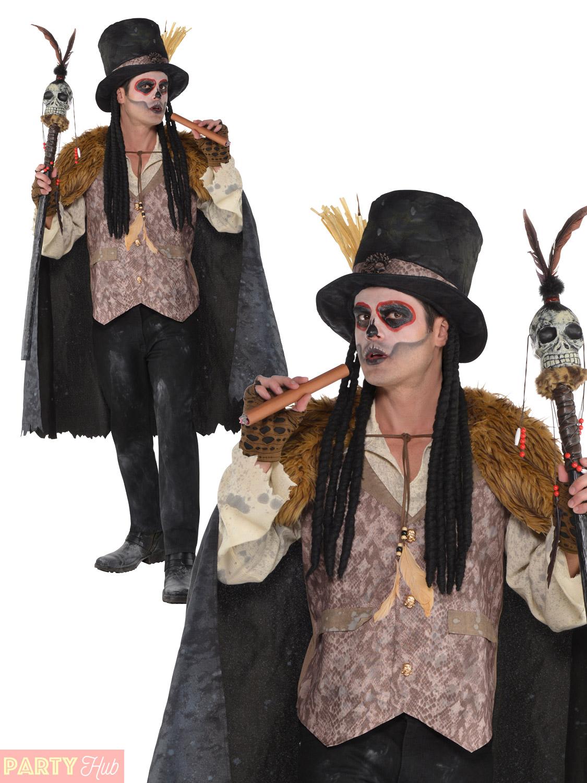Voodoo Man Costume & Smiffy-039-s-Mens-Witch-Doctor-Voodoo