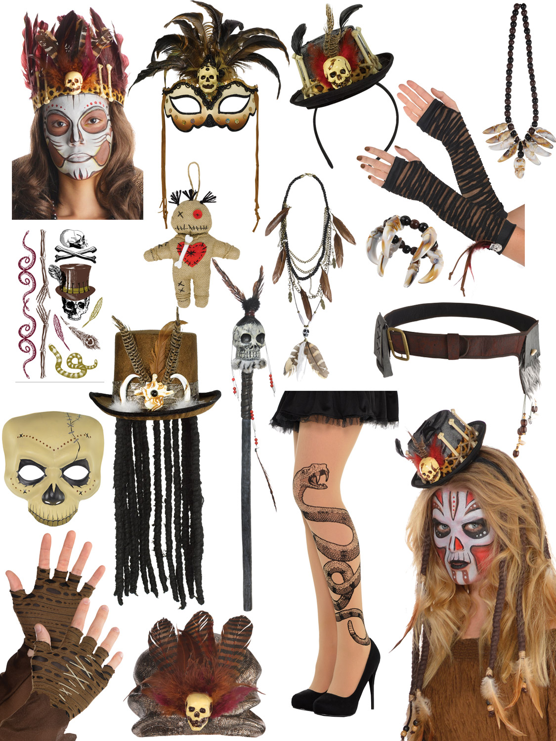 Details about Adult Witch Doctor Fancy Dress Mens Ladies Halloween Costume  Accessories Outfit
