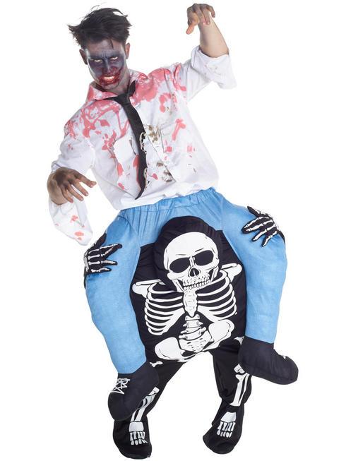 Adult's Skeleton Piggyback Costume