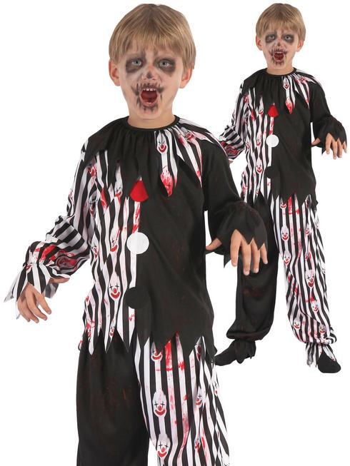 Boy's Bloody Harlequin Clown Costume
