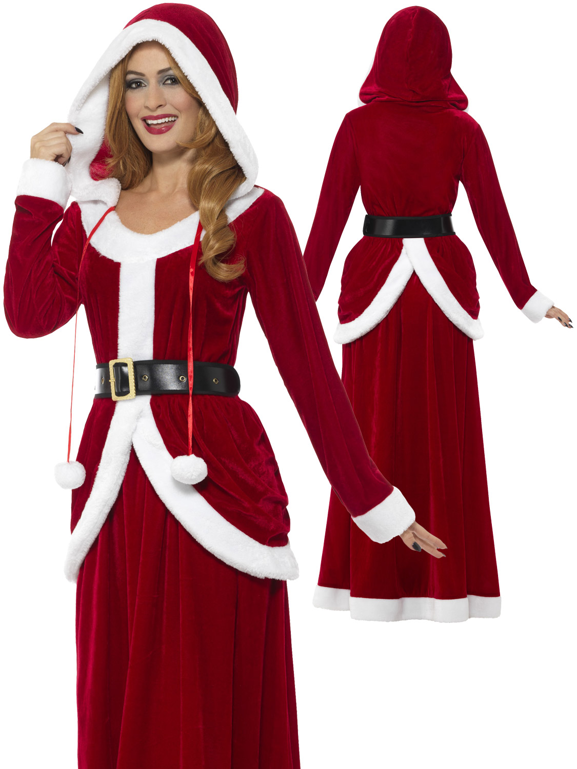 Ladies deluxe miss claus mrs santa long fancy dress costume transform yourself into mrs claus this christmas with this stunning fancy dress costume solutioingenieria Images