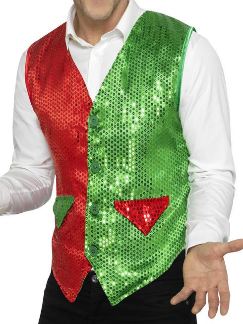 Men's Sequin Elf Waistcoat
