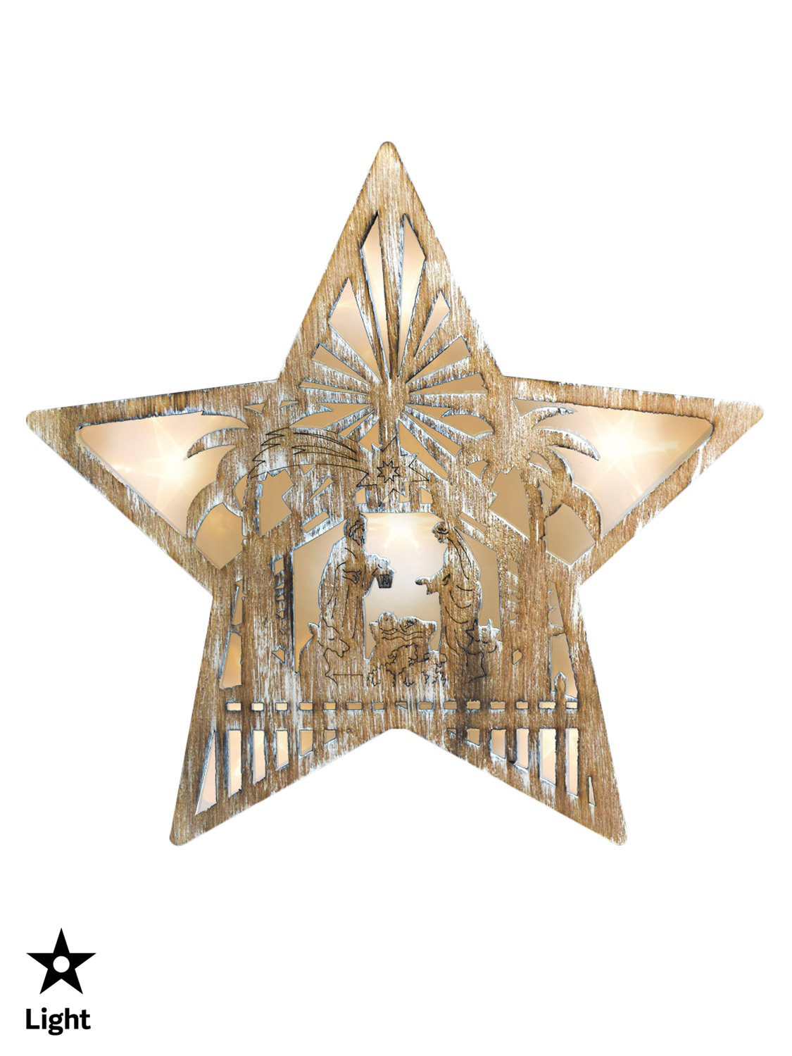Wooden-Light-Up-Cut-Out-Star-Christmas-Decoration-Picture-Pre-Lit-LED-Nordic 縮圖 5