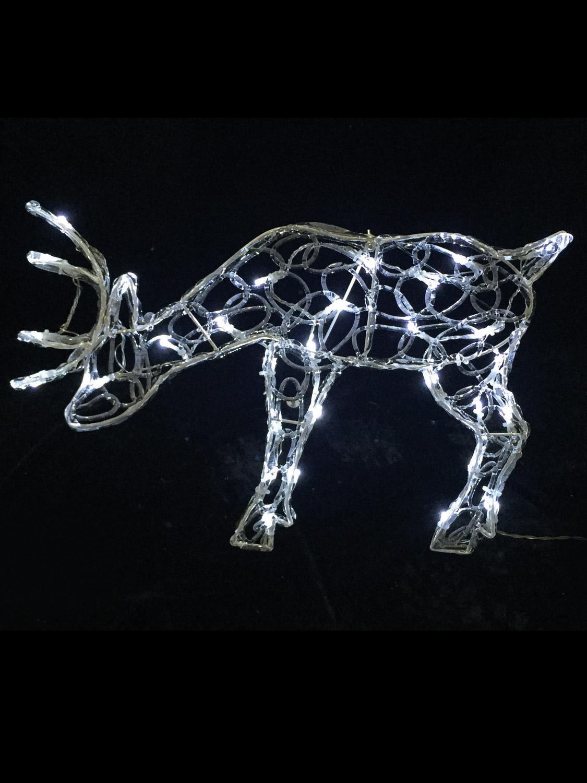 56cm Light Up Reindeer Outdoor Christmas Decoration Garden LEd Standing Prancing  eBay