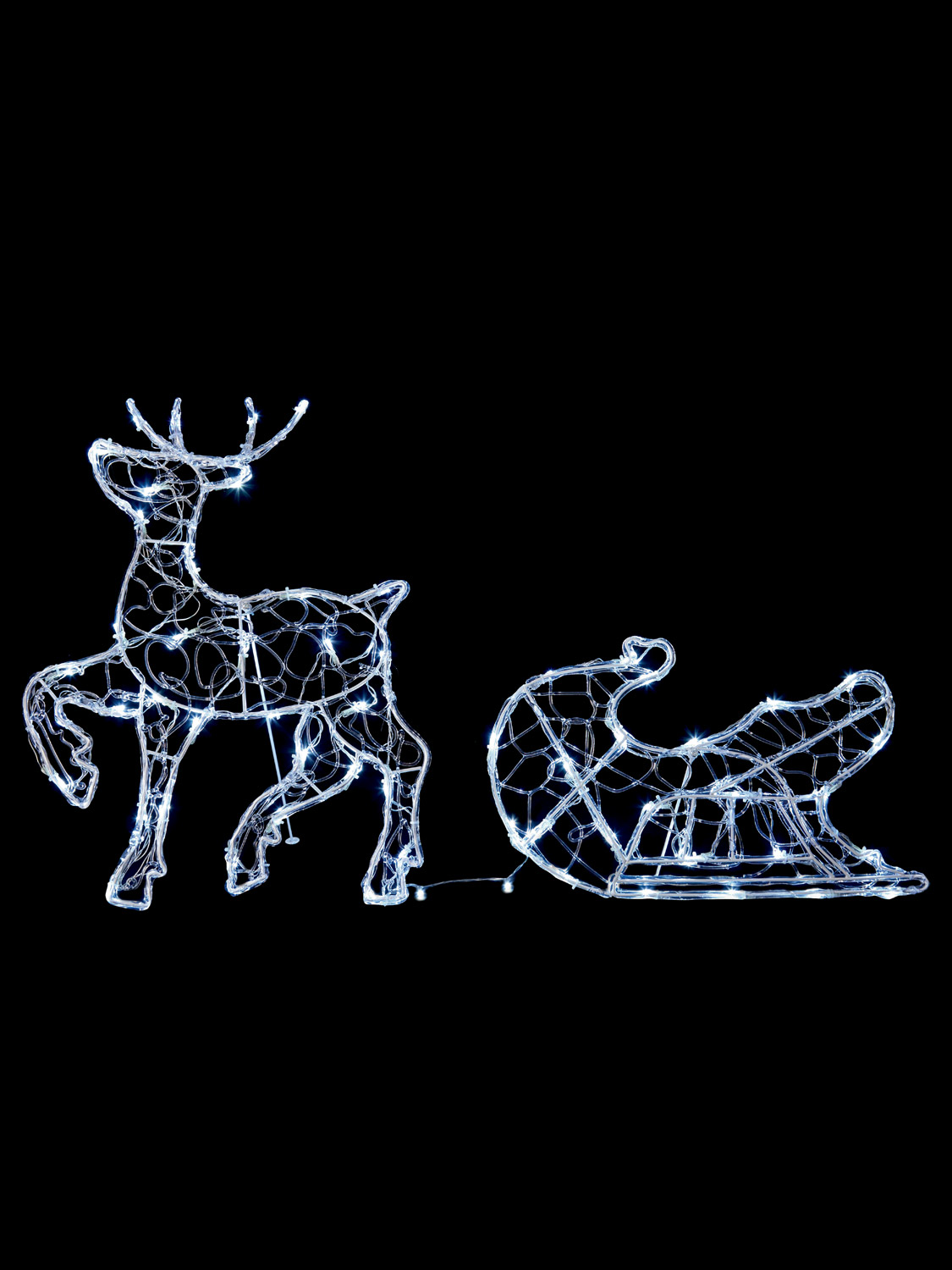 56cm Light Up Reindeer Outdoor Christmas Decoration Garden LEd Standing Prancing  eBay