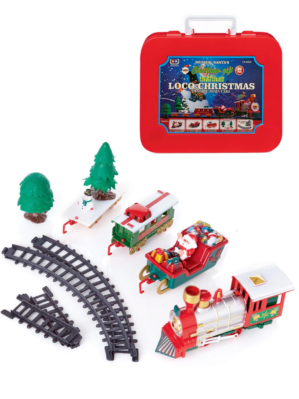 Christmas-Train-Set-Track-Gift-Musical-Sound-Lights-Around-Tree-Decoration-Santa