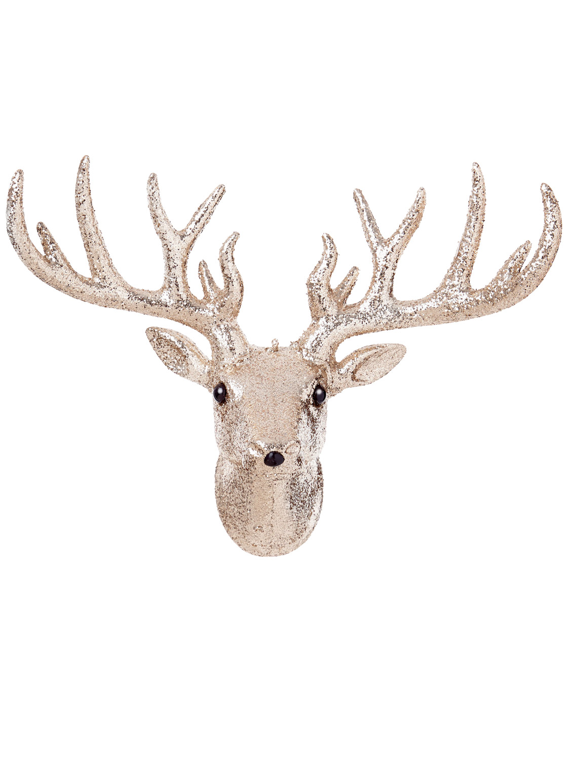 31x 23cm Glitter Stag Head Christmas Xmas Decoration Wall ...