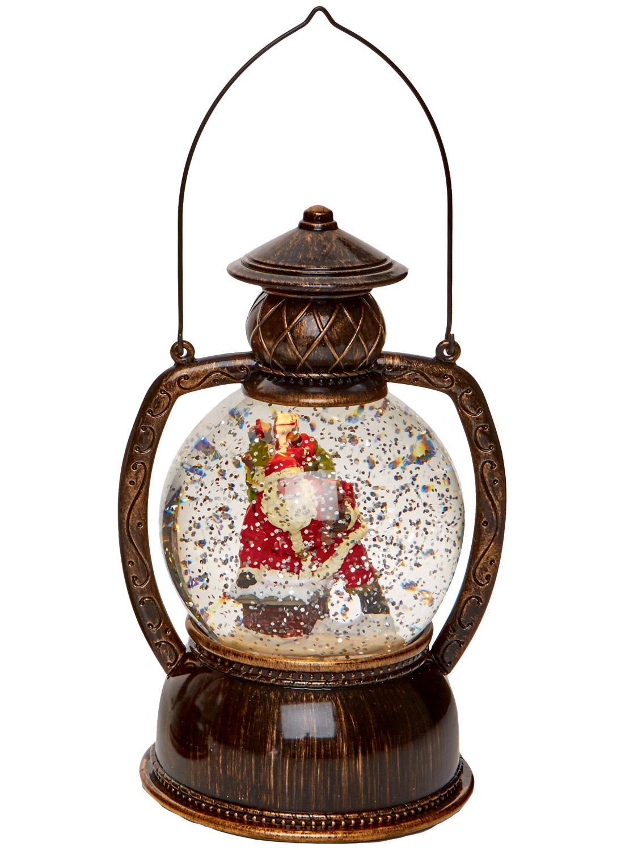 light up glitter water snow globe hurricane lantern led. Black Bedroom Furniture Sets. Home Design Ideas