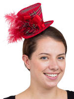 Ladies Tartan Mini Top Hat