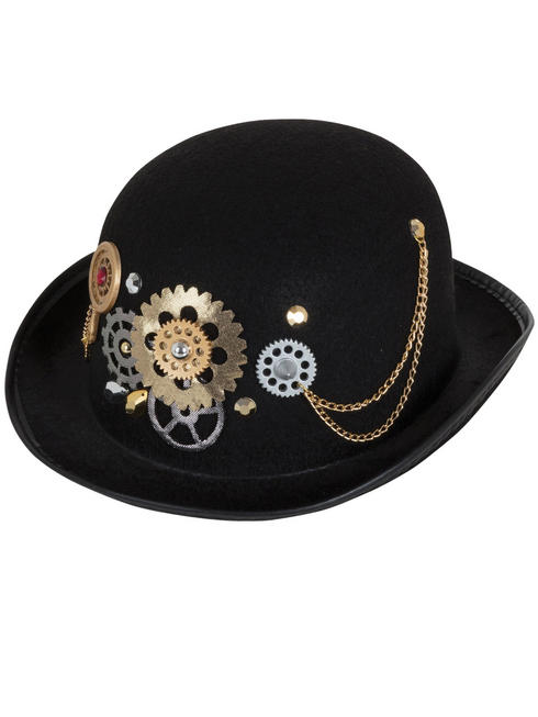 Adult's Steampunk Bowler Hat