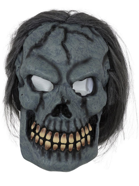 Adult's Skull Mask with Hair