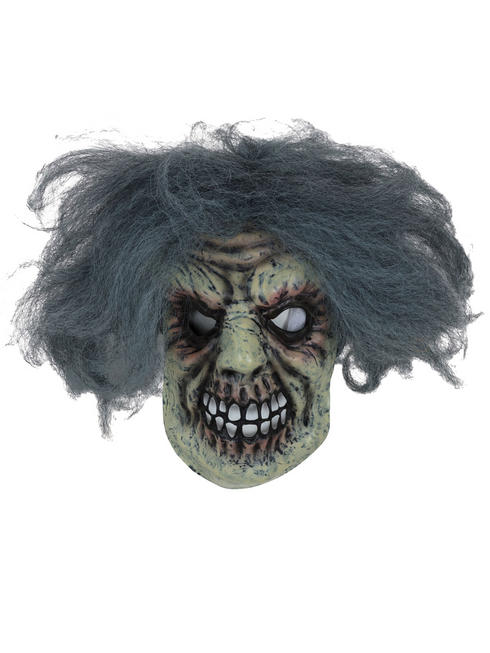 Adult's Horror Man Mask with Hair