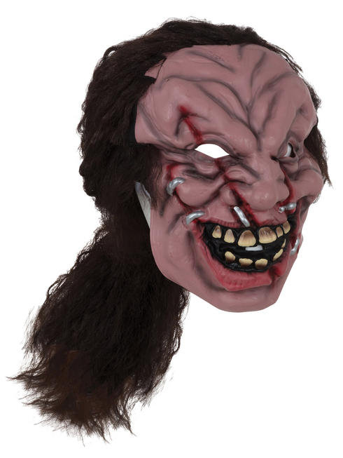 Adult's Zombie Mask with Hair