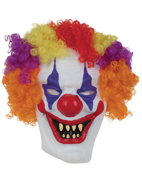Adult's Clown Mask with Hair