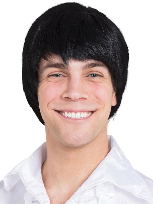 Men's 60s Black Wig