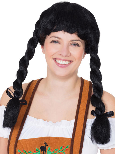 Ladies Black Fraulein Wig