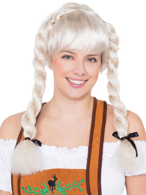 Ladies Blonde Fraulein Wig