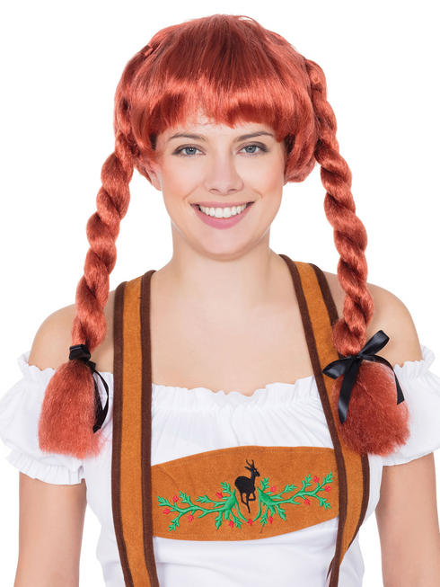 Ladies Auburn Fraulein Wig