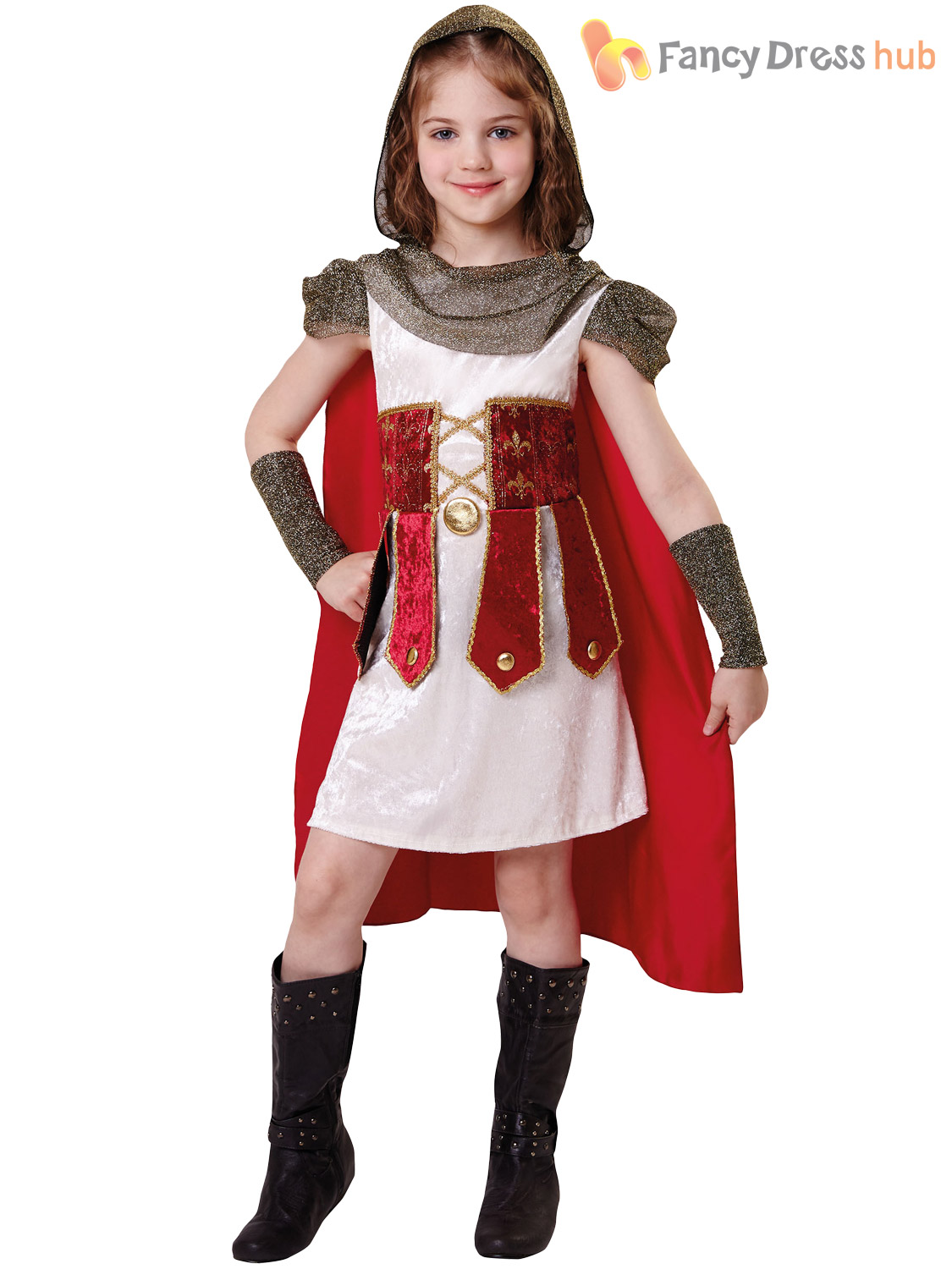 Childs Medieval Gothic Princess Book Week Fancy Dress Costume Outfit Age 3-7