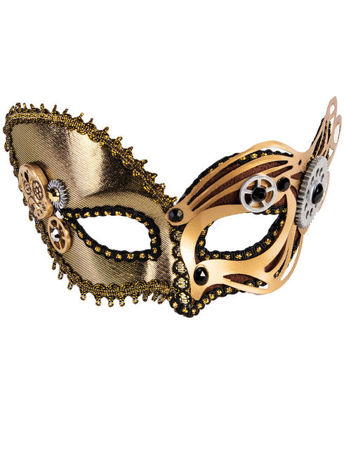 Adult's Steampunk Metallic Mask