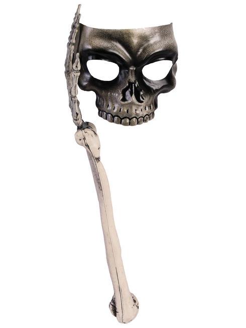 Adult's Skull Mask with Bone Handle