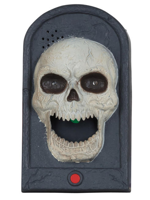 Skull Doorbell with Moving Tongue