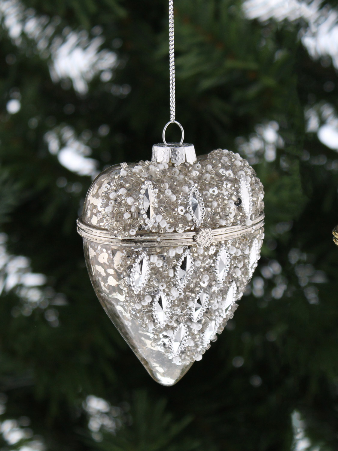 Deluxe Trinket Glass Opening Bauble Christmas Tree