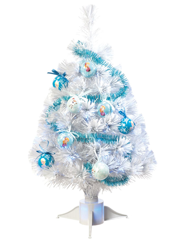 Frozen Christmas Decorations.Details About Disney Frozen Fibre Optic Christmas Tree Tinsel Baubles White Light Up Xmas