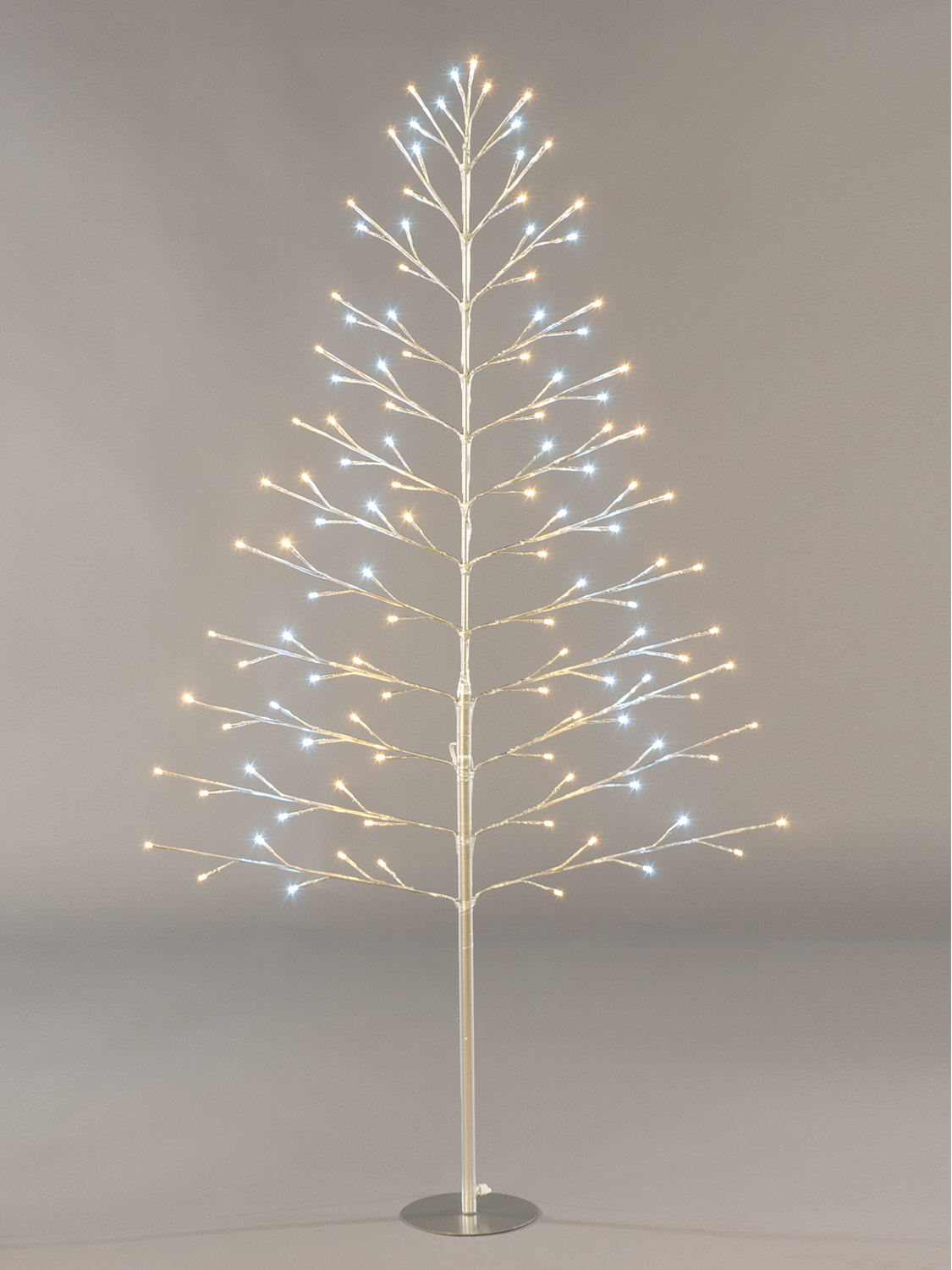 pre lit flat twig tree 120cm christmas decoration
