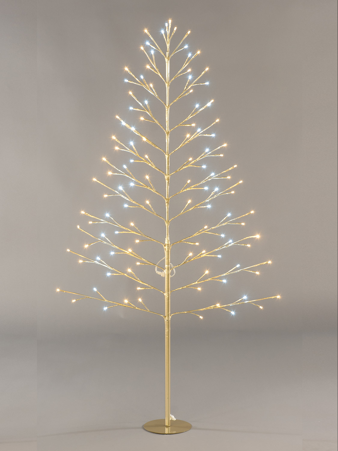 Pre Lit Flat Twig Tree 120cm Christmas Decoration 96 LED Lights ...