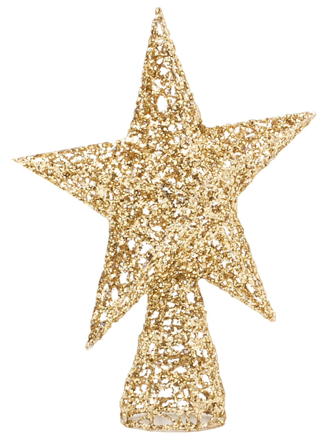 Details About Star Christmas Tree Topper Glitter Gold Silver Xmas Decoration 25cm Traditional