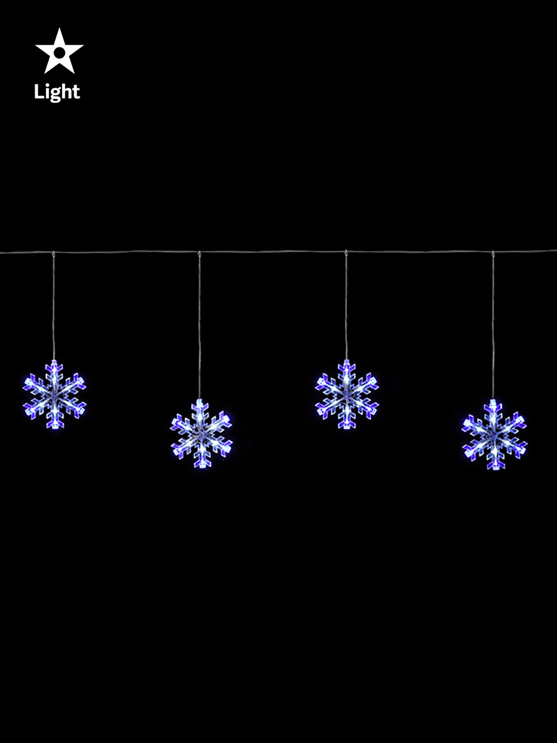 Hanging christmas light curtain icicle star snowflake for 6 star window christmas decoration lights