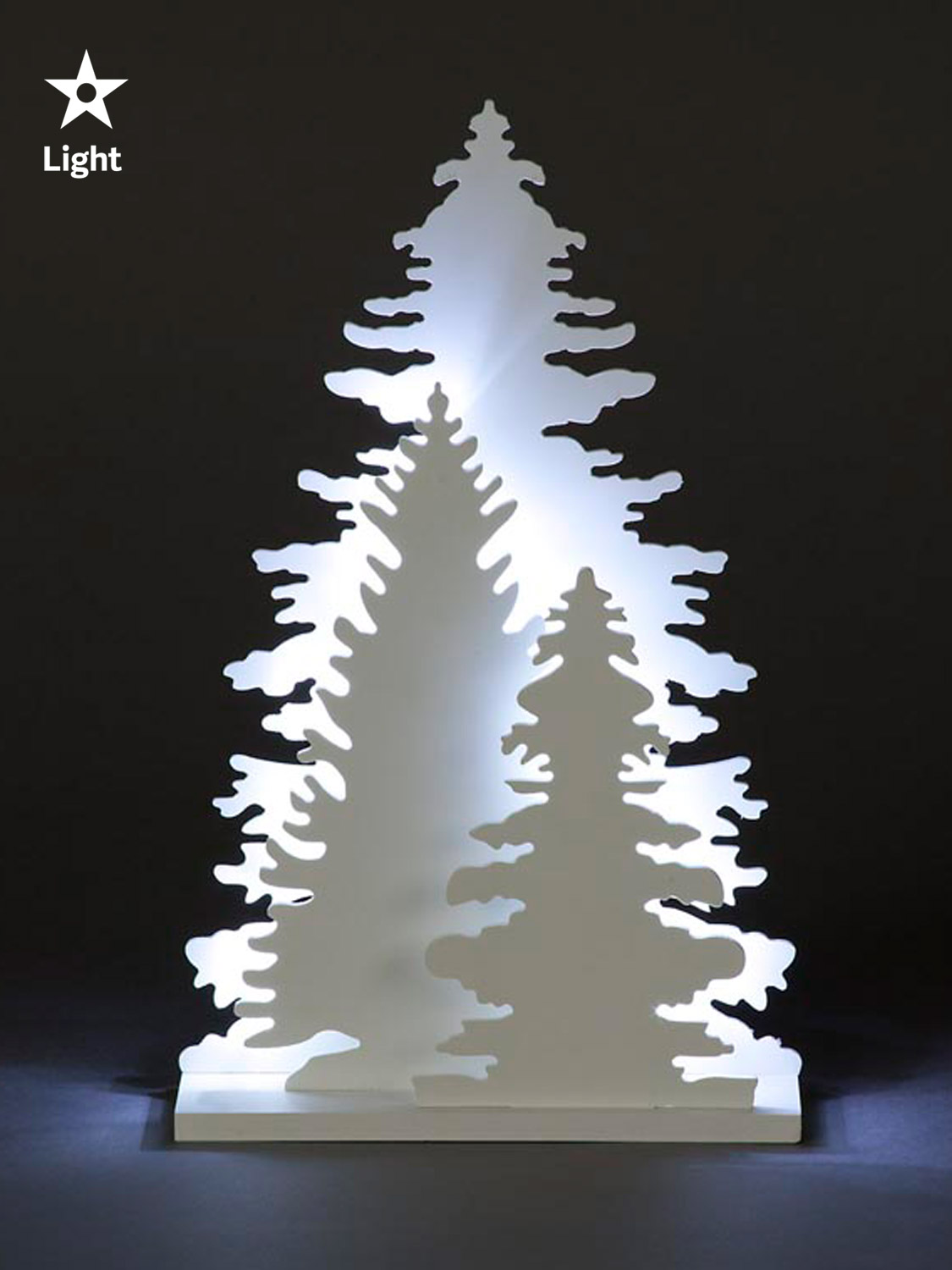 brighten up your home this christmas with these beautiful cut out white wooden decorations suitable for indoor use only