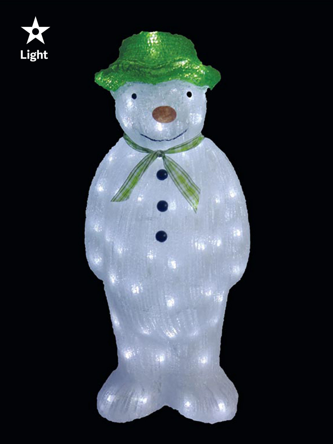The snowman snowdog acrylic light up led outdoor garden for Outdoor light up ornaments