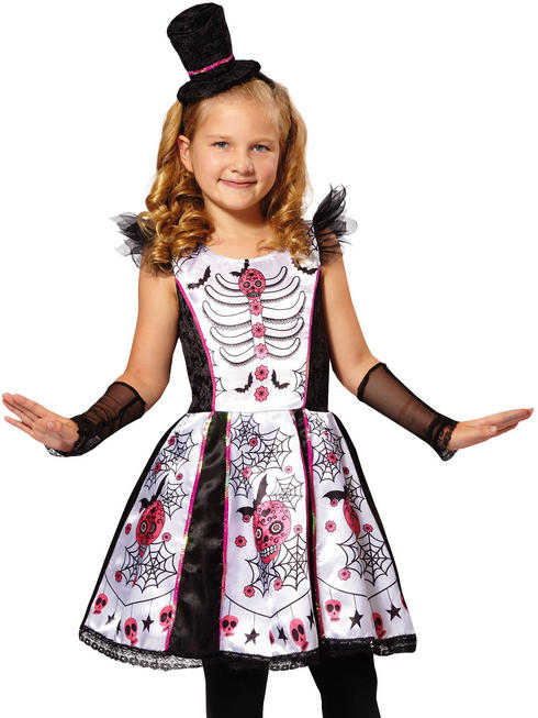 Girl's Skeleton Beauty Costume