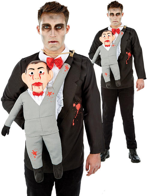 Men's Ventriloquist & Dummy Costume